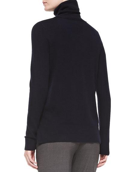 Cashmere Turtleneck Sweater, Coastal