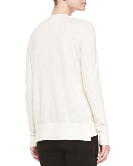 Cashmere Regimental-Stripe Sweater
