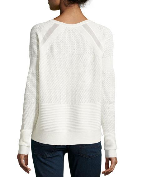 Wool Lace Sweater, Chalk