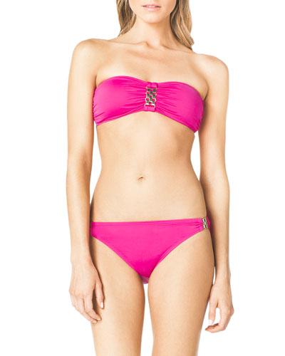 Bandeau Bikini Top with Hardware