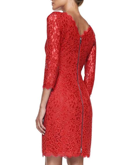 Zarita Boat-Neck Lace Dress