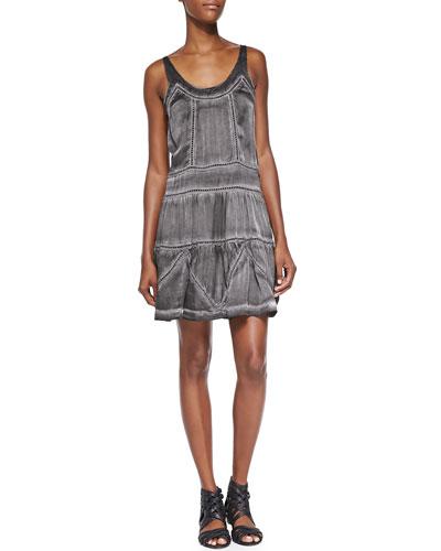 Pam & Gela Scoop-Neck Dress with Loop-Stitch Detail