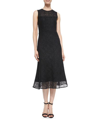 Raoul Tara Sleeveless Bonded Lace Dress