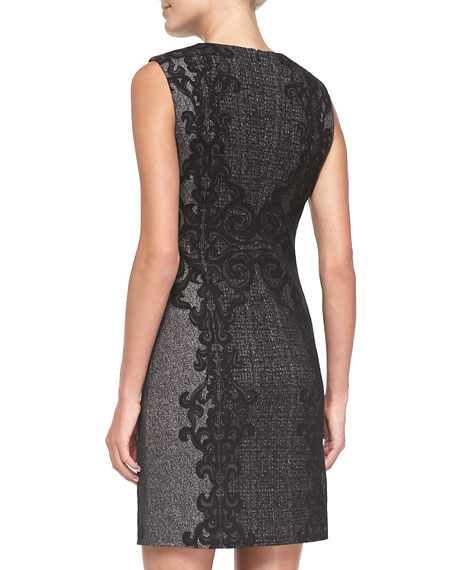 Pentra Lace/Tweed Sheath Dress