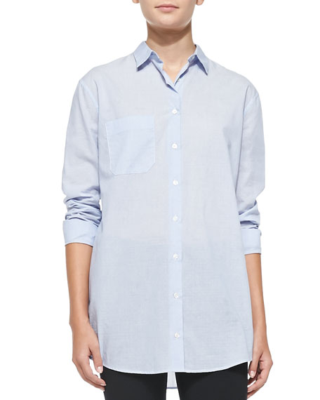 Oversize Cotton Boyfriend Dress Shirt