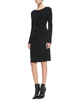 DKNY Long-Sleeve Faux Wrap Dress