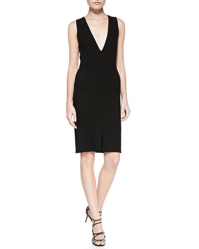 Alice + Olivia Tany V-Neck Fitted Dress