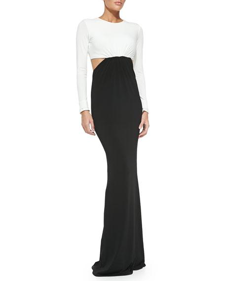 Vera Two-Tone Cutout Maxi Dress