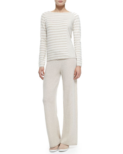 in CASHMERE Two-Piece Cashmere Top & Pants Set