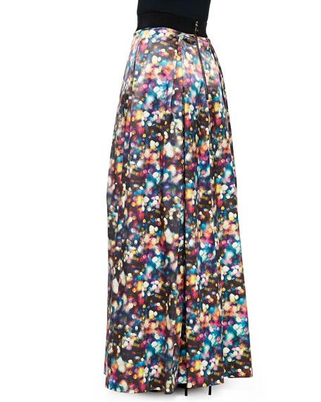 Glitter-Print Ball Skirt