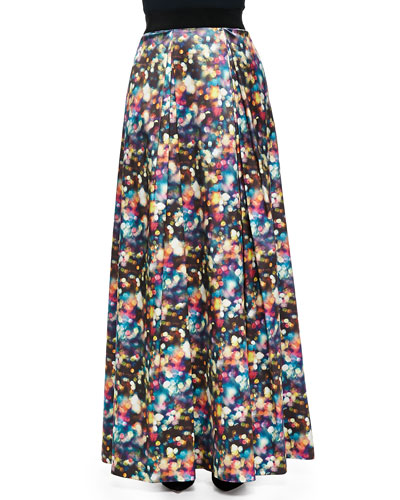 Milly Glitter-Print Ball Skirt