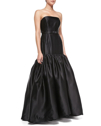 Milly Allegra Strapless Two-Tiered Gown