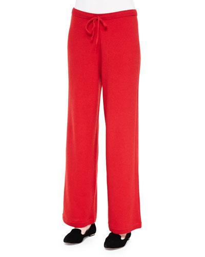 Neiman Marcus Cashmere Drawstring Pants