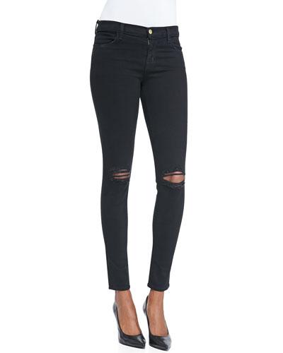 J Brand Jeans Distressed Skinny-Leg Jeans