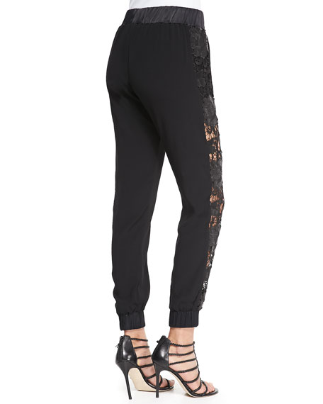 Bisec Cutout-Side Pull-On Pants