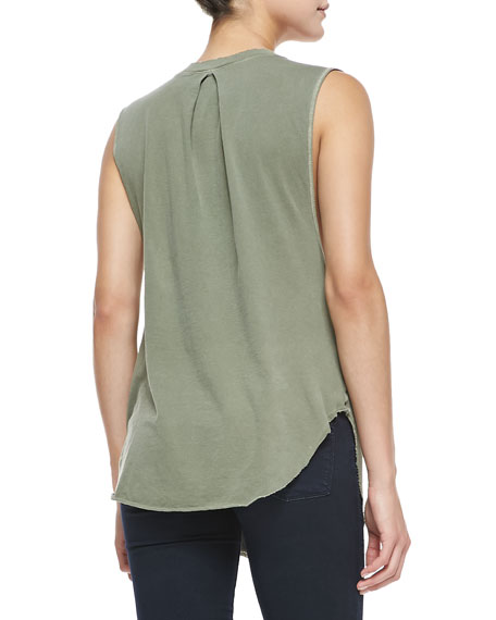 Nocturnal Crossover Tank Top, Olive