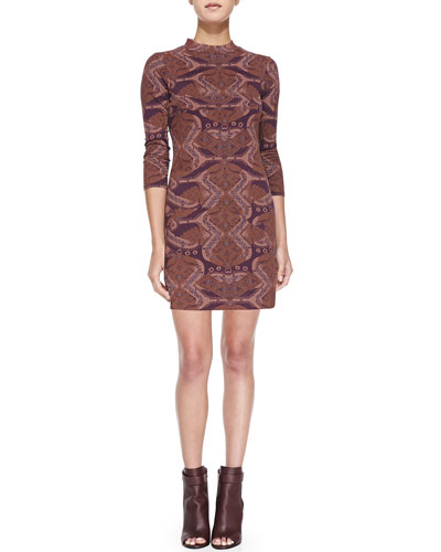 Free People Abstract-Print Cutout Bodycon Dress