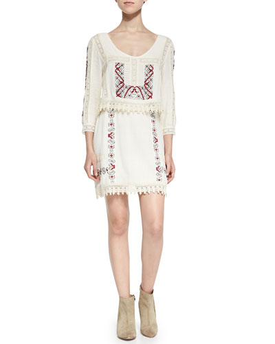 Free People Twice As Nice Filigree Crochet Dress