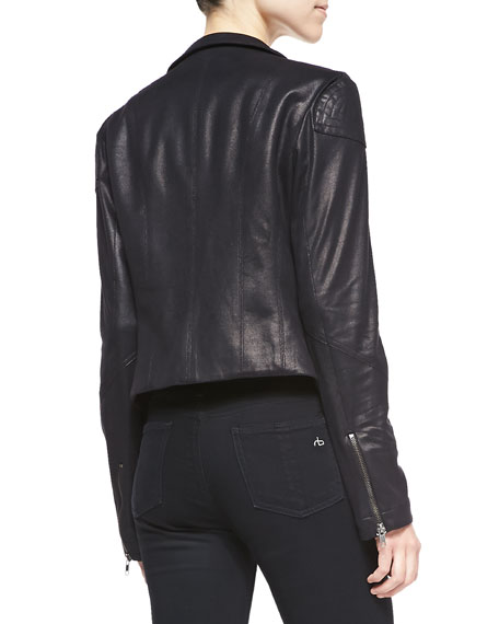 SW3 Bespoke Joseph Street Washed Faux-Leather Jacket, Black