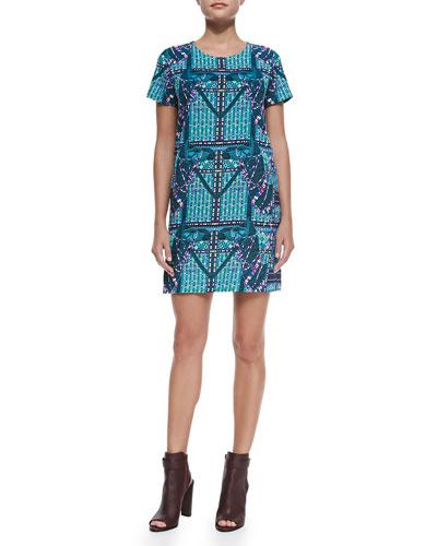 Mara Hoffman Camel-Print Tee Shift Dress