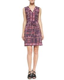Nanette Lepore Sleeveless Carpet-Print Dress