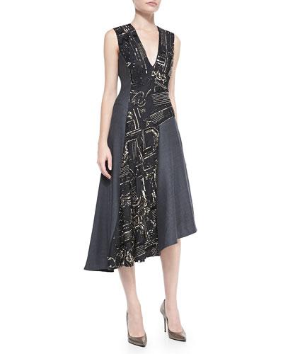 Nanette Lepore Sparkle & Shine Beaded Dress