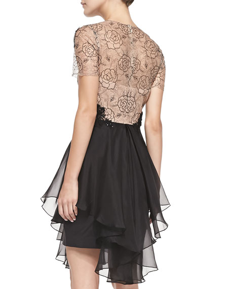 Rose Tattoo-Lace Bodice Cocktail Dress