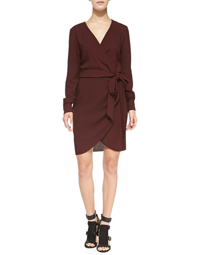 Rebecca Minkoff Henrick Tie-Waist Wrap Dress