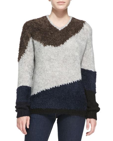 Tibi Textured V-Neck Sweater