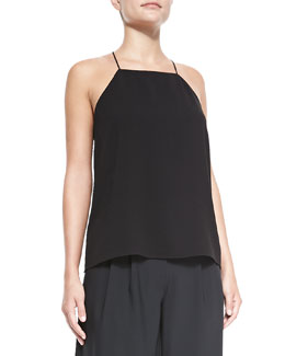 Tibi Savanna Square-Neck Crepe Cami