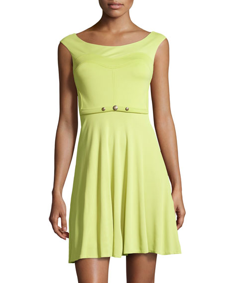 Versace Jersey Fit-and-Flare Dress
