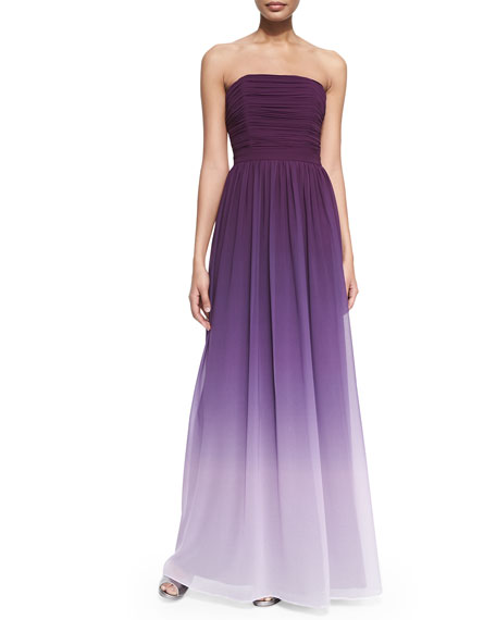 e5827dc20ae ERIN erin fetherston Isabelle Strapless Ruched Ombre Gown