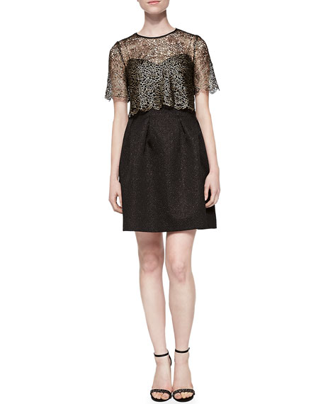Addison Mosaic Jacquard Dress