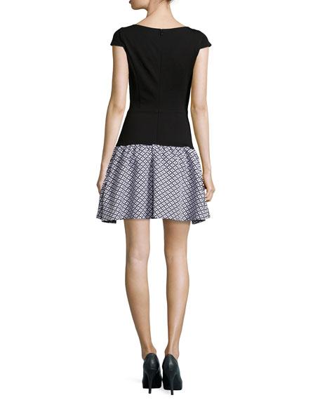 Blair Dropped-Waist Ponte Dress