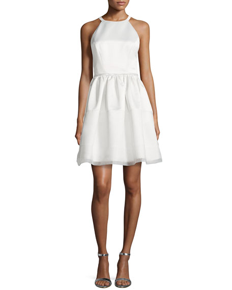 ERIN erin fetherstonSavannah Duchess Satin Cocktail Dress