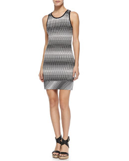 Copricost Zigzag Knit Fitted Dress