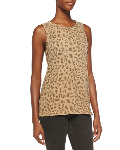Current/Elliott The Muscle Leopard-Print Tee