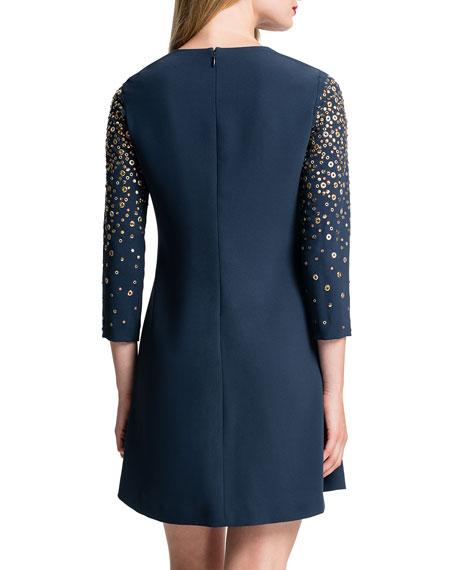 Honor Galaxy-Print Shift Dress