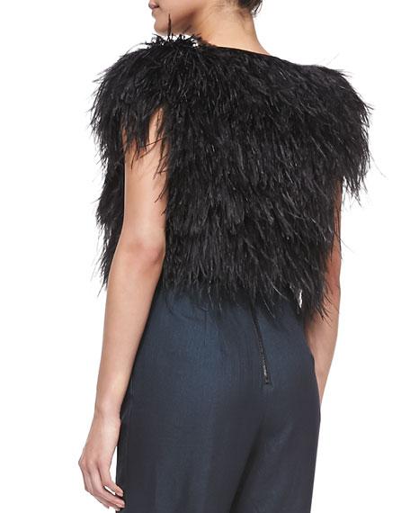 Ostrich-Feather Cocktail Bolero