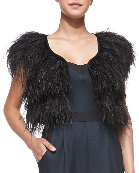 Ostrich-Feather Cocktail Bolero