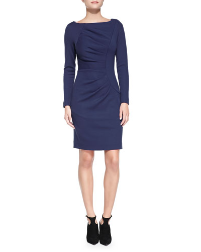 Milly Andrea Long-Sleeve Dress