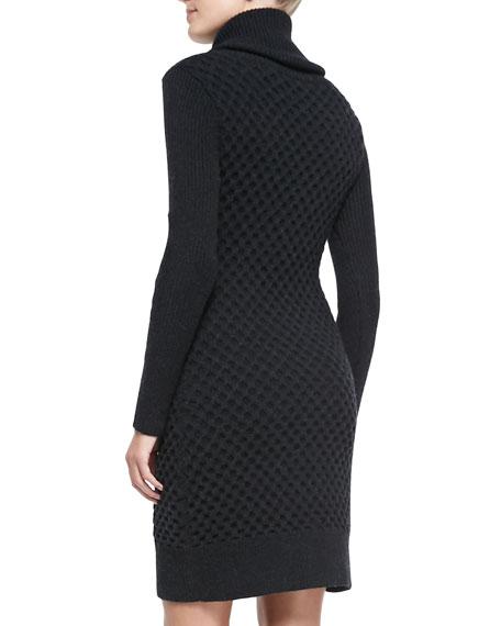Chunky Turtleneck Long-Sleeve Dress