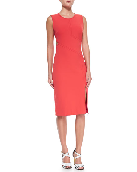 Veronica Beard Cutout-Detail Ponte Sheath Dress