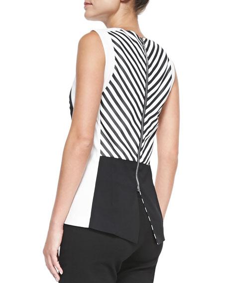 Silhouette Striped Colorblock Top
