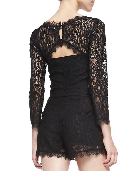 Joie Nali Long-Sleeve Lace Jumpsuit
