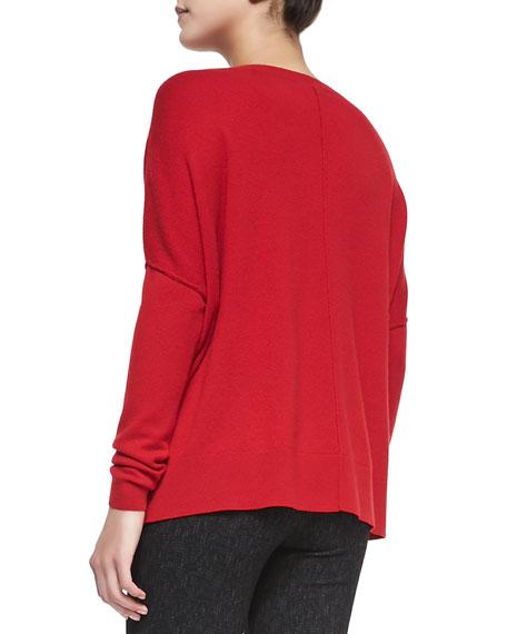 Narcisse Raised-Seam Loose Sweater