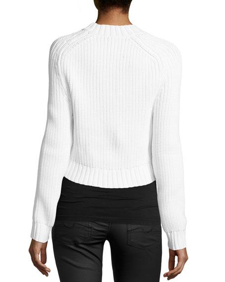Airspun Shaker Cropped Sweater