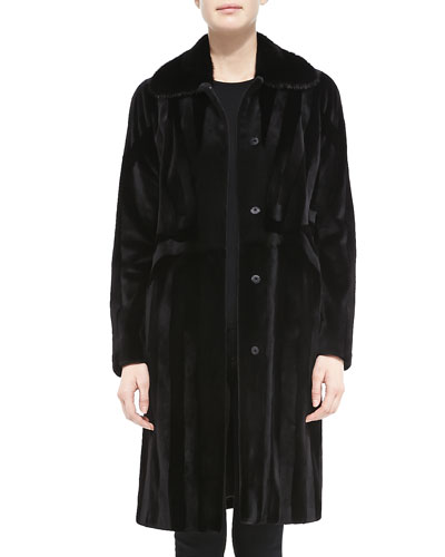 J. Mendel Long Paneled Mink Fur Coat
