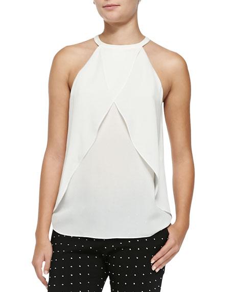 Iggy Sleeveless Layered Silk Top
