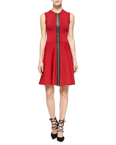 A.L.C. Dolls Sleeveless Zip-Front Knit Dress